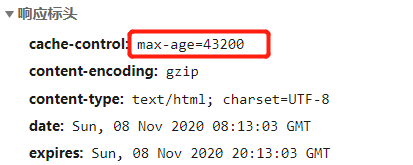 响应标头cache-control max-age修改方法