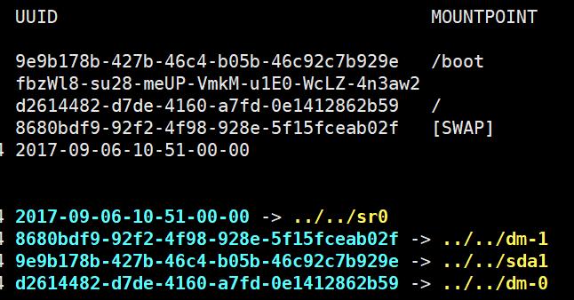 Linux如何查看磁盘/分区的UUID