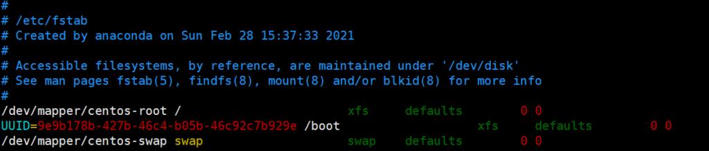 linux查看硬盘uuid